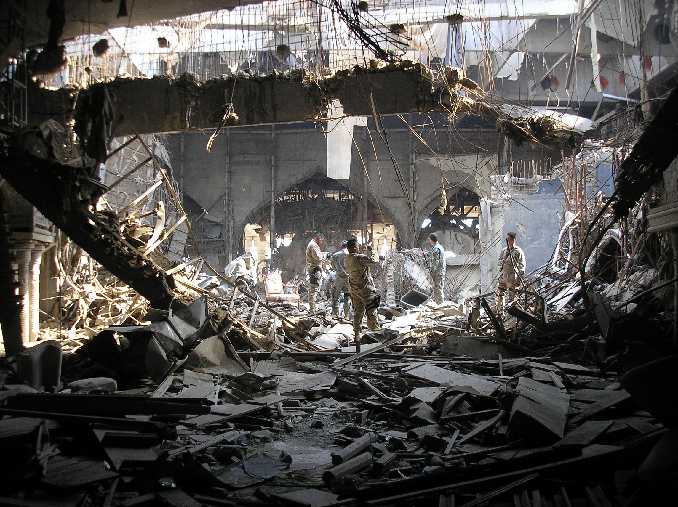 Image result for baghdad  buildings destroyed saddam war